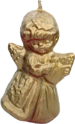 "ANGEL WITH HARP CANDLE MAKING MOLD (4.5"" HT, 5 oz)"