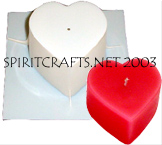"SMALL FLAT HEART CANDLE MOLD (2.25"" HT, 9 oz)"