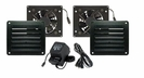 Two HiFlo Lite Cabinet Vents w/ Power Supply