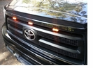 Amber Truck Grill Mount LED Lights with Clip