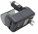 All in One Dual USB Car and AC Wall Travel Charger