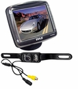 3.5'' Slim TFT LCD Digital Monitor w/ License Plate Night Vision Backup Camera