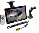 "7"" Window Suction Mount TFT/LCD Video Monitor w/ Universal Mount Rearview Backup Color Camera & Distance Scale Line"