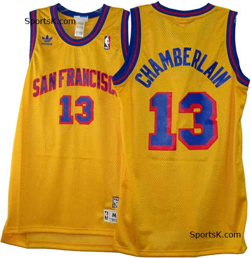 839e012ec1a San Francisco Wilt Chamberlain NBA Throwback Swingman Basketball ...