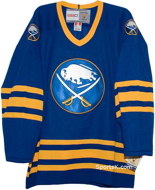 sports shoes 9ed54 357be Vintage Buffalo Sabres Road 1983-1996 Jersey (Size XL)