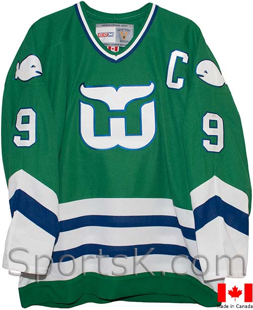 ... Customized Vintage Hartford Whalers Jerseys (Green 1979-1985 ... 8a0d3aceca6