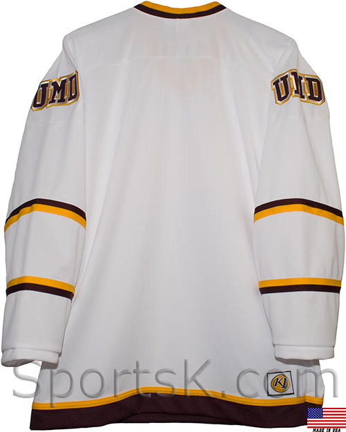 buy popular d0249 9a042 Minnesota Duluth Bulldogs Hockey Jersey (White Third Size Small)