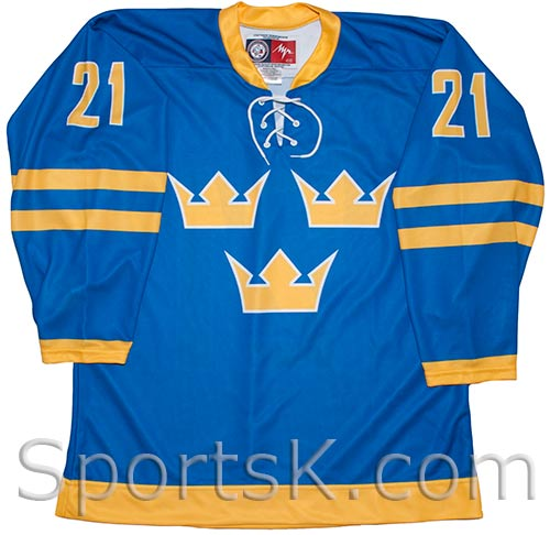 9e472c9ef Peter Forsberg Sweden Hockey Jersey (Blue)