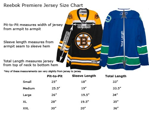 Reebok Adult Premier Hockey Jersey Sizes 256aa539d