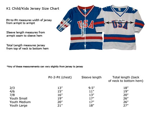 jersey size