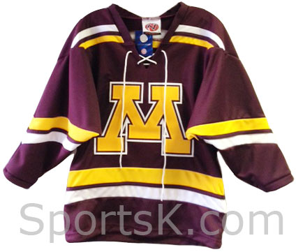 low priced ba66f 4766e Minnesota Gophers Road Hockey Jersey (Youth Size)
