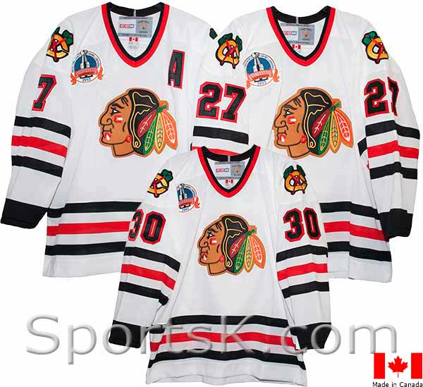 newest c1b0a ceb5f Chicago Blackhawks Roenick 1992 Vintage White Jerseys (Size ...