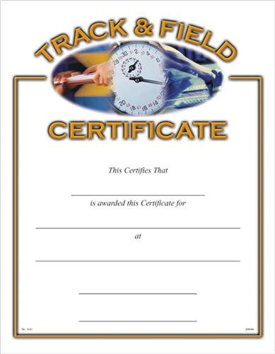 track and field certificate templates free  Track
