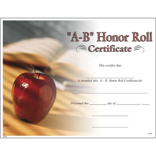 a b honor roll certificates  photo a b honor roll certificate