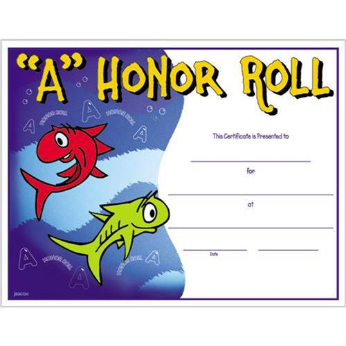 A honor roll certificate 8 1 2 x 11 a honor roll certificates for A b honor roll certificate template