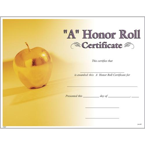 A honor roll certificates photo a honor roll certificate for A b honor roll certificate template
