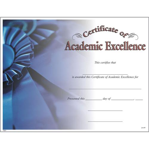 certificate of academic excellence from trophycentral