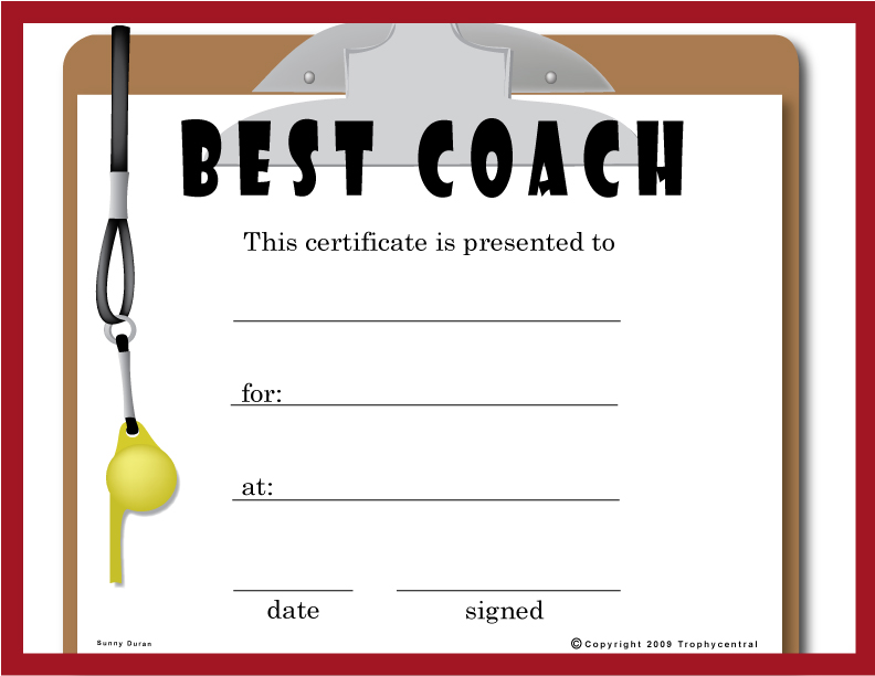 free hole in one certificate template - free coach certificates certificate free coach