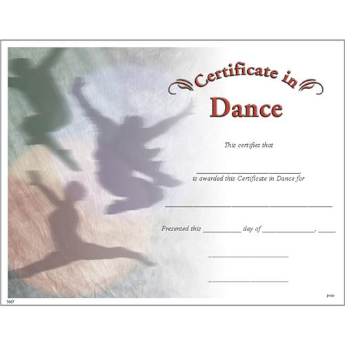 Dance certificates photo dance certificate trophycentral yadclub Choice Image
