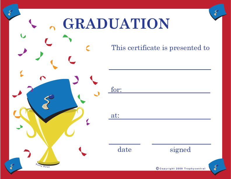 Graduation certificate templates yadclub Image collections