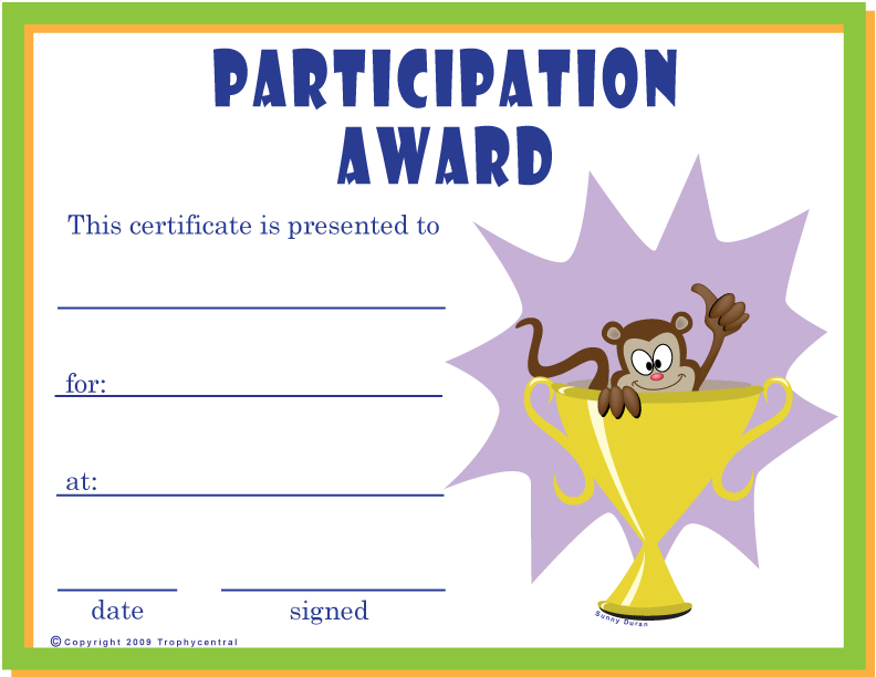 Downloadable Certificates – Sports Award Certificates