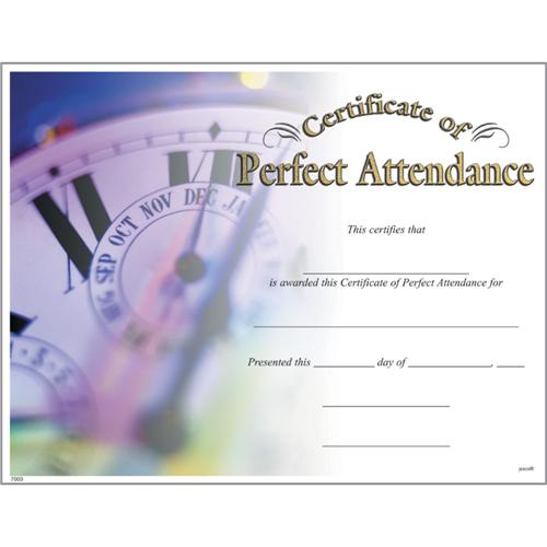 Perfect Attendance Certificates, Photo Perfect Attendance ...