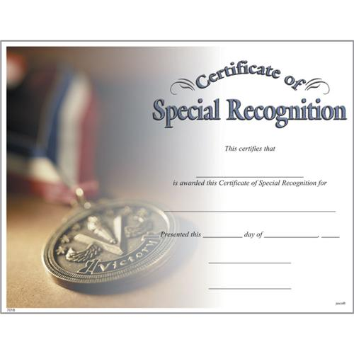 special recognition certificates photo special recognition certificate
