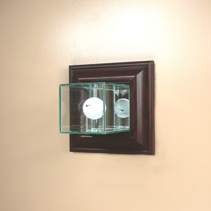 wall mounted glass golf ball display case trophycentral. Black Bedroom Furniture Sets. Home Design Ideas