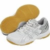 last few - Asics Jr. Rocket GS Squash / Indoor Court Shoes, White/Silver