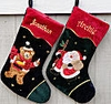 "21"" Personalized Stockings Bear Embroidered Appliqué"
