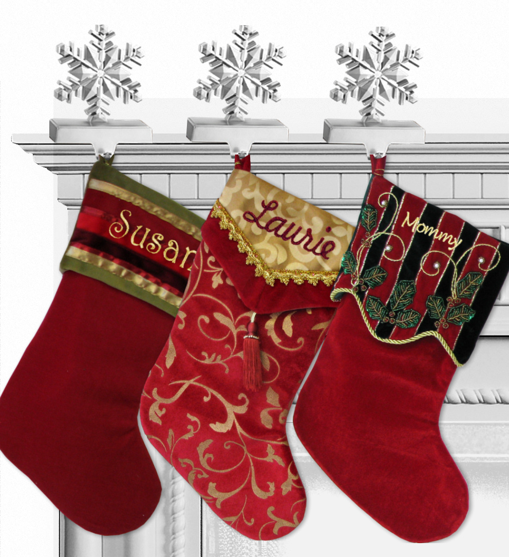 07deb0992d540 Burgundy Velvet V Cuff Personalized Stocking Gold Accents ...