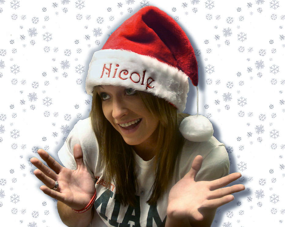 aec4830a6 Personalized Santa Hat with Smooth Cuff