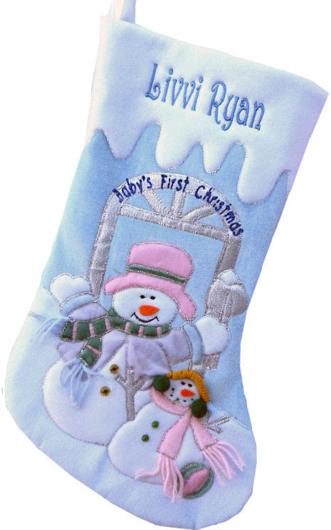 babys first christmas personalized blue velvet baby boys first christmas stocking