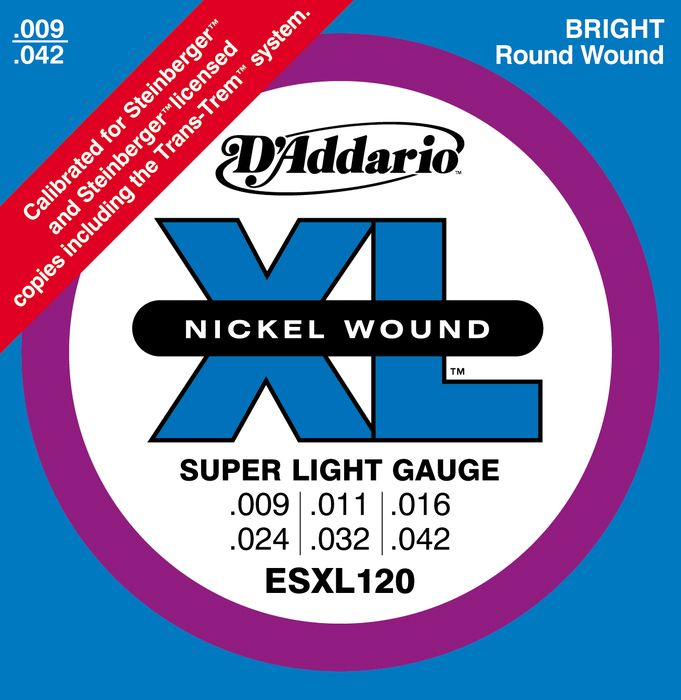 D'Addario ESXL120 Super Light Double Ball End Electric Guitar Strings