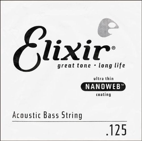 Elixir 14502-15825 Nanoweb Coated 5 String Acoustic Bass Strings Light 45-125