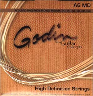 Godin A6 Phos Bronze Acoustic Guitar Strings