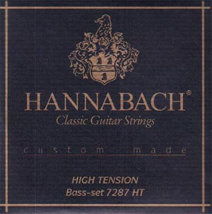 Hannabach 728 Custom-Made Classical Guitar Strings High Tension - Half Set Basses Only