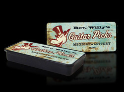 Jim Dunlop Rev. Willy's Mexican Lottery Brand Pick Tins