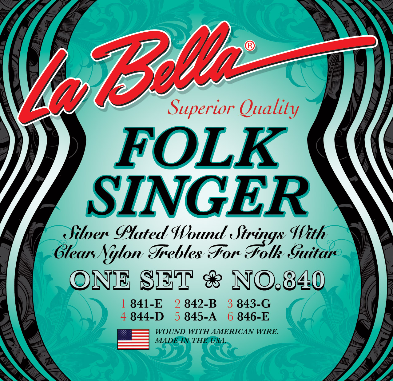 La Bella Elite Folksinger Classical Guitar Strings
