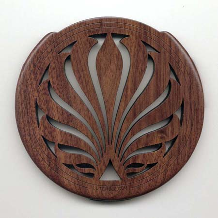 Lutehole Solid Wood Soundhole Cover - Heavy Feedback Control