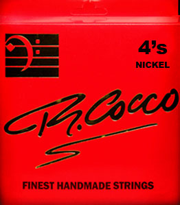 R Cocco Handmade Nickel Round Wound Bass Guitar Strings - 4 String RC4GN Medium 45-105