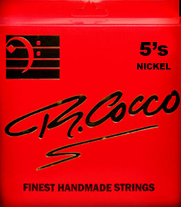 R Cocco Handmade Nickel Round Wound Bass Guitar Strings - 5 String 45-125