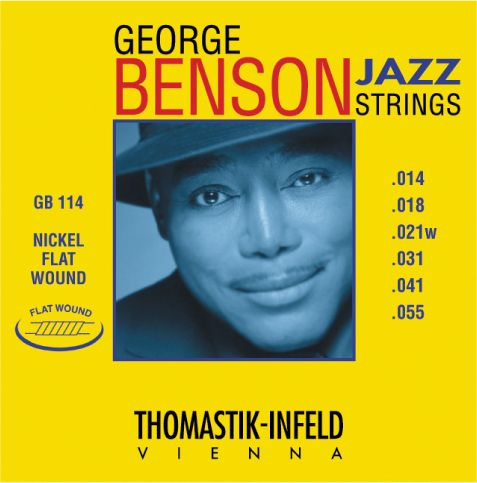 Thomastik-Infeld George Benson Nickel Flat Wound Jazz Guitar Strings