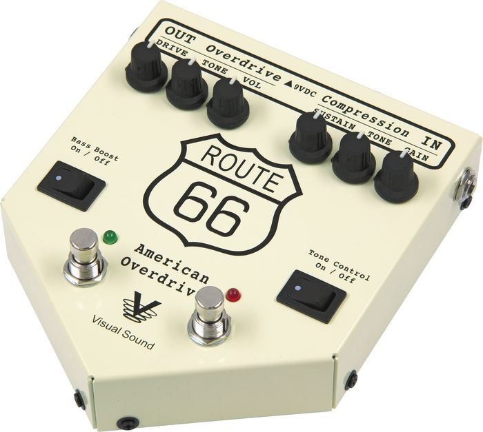visual sound route 66 american overdrive pedal. Black Bedroom Furniture Sets. Home Design Ideas