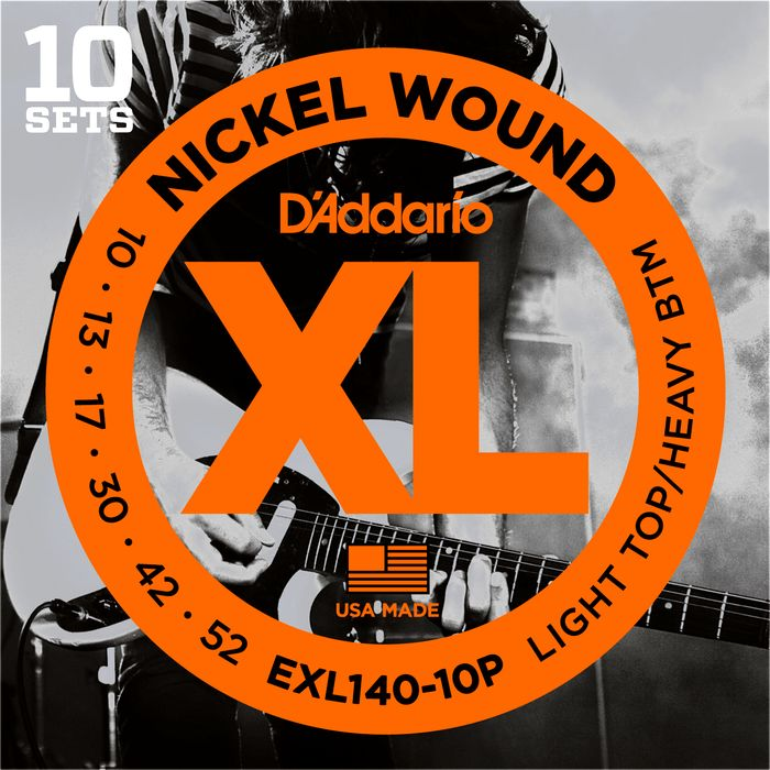 FREE 3 Pack with D'Addario 10 Pack EXL Electric Guitar Strings