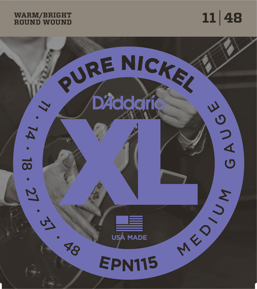 D'Addario EPN Pure Nickel Round Wound Electric Guitar Strings