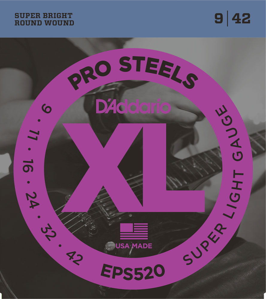 D'Addario ProSteels Round Wound Electric Guitar Strings