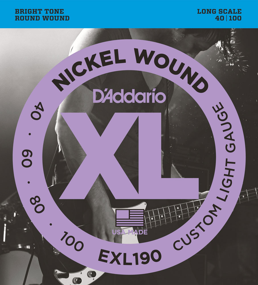 D'Addario XL Nickel Wound Electric Bass Strings