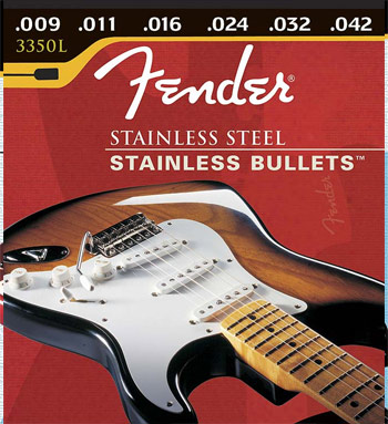 Fender Stainless Bullets Stainless Steel Electric Guitar Strings