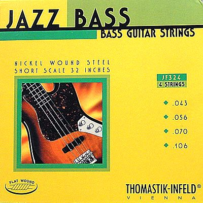 Thomastik-Infeld JF324 Jazz Nickel Flat Wound Electric Bass Strings Short Scale 43-106